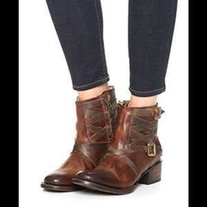 Freebird by Steven Sammi Leather Ankle Boots 7